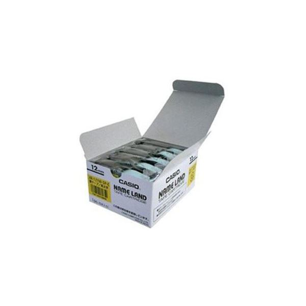 CASIO ネームランド NAME LAND 市販 スタンダードテープ 黄テープ おトク XR-12YW-5P-E 12mm幅 スーパーセールでポイント最大44倍 黒文字 5本入