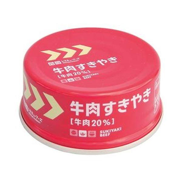 (まとめ)ホリカフーズ レスキューフーズ牛肉すきやき 1セット(24缶)【×3セット】