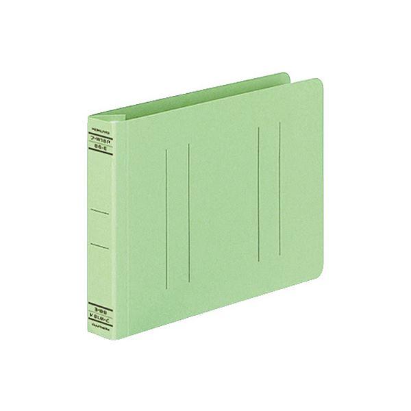 (まとめ) コクヨ フラットファイルW(厚とじ)B6ヨコ 250枚収容 背幅28mm 緑 フ-W18NG 1セット(10冊) 【×10セット】