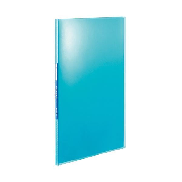 (まとめ) キングジム シンプリーズクリアーファイル(透明) A4タテ 10ポケット 背幅10mm 青 TH184TSPHB 1冊 【×100セット】