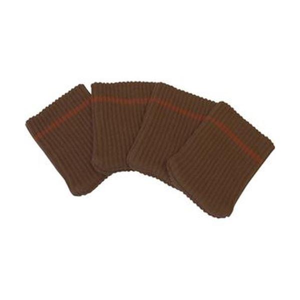 (まとめ)旭電機化成キズつきにくいテーブル脚カバー ブラウン AIC-02-BR 1パック(4個)【×20セット】