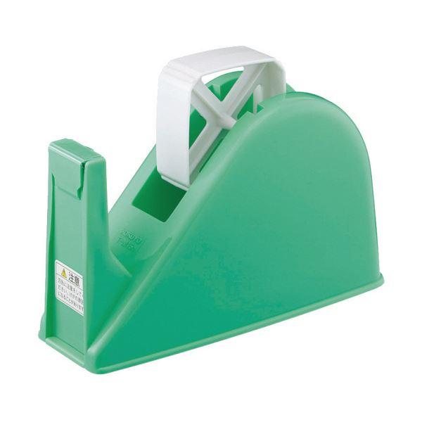 コクヨ テープカッターW77×D175×H103mm 緑 T-M15G 1セット(10台)