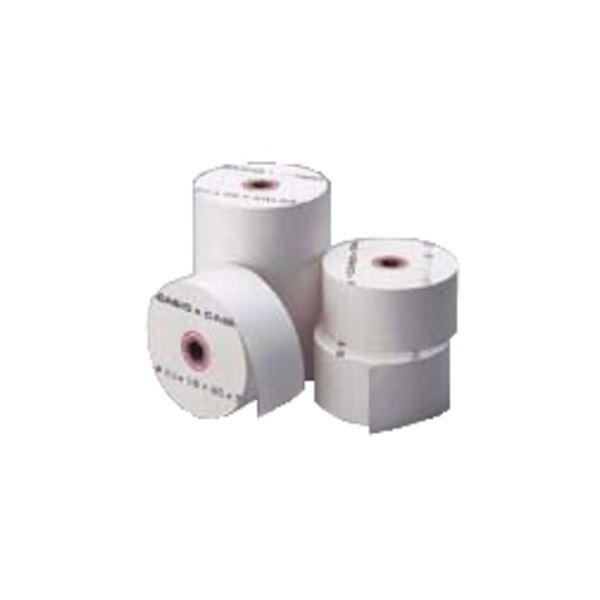 (まとめ) シャープ ロールペーパー紙幅57.5mm 外径80mm 上質紙タイプ RL-142A 1パック(5個) 【×10セット】