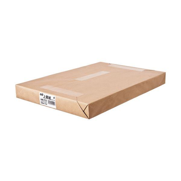 (まとめ) TANOSEE 上質紙 中厚口19×13インチ(483×330mm) 1冊(500枚) 【×5セット】