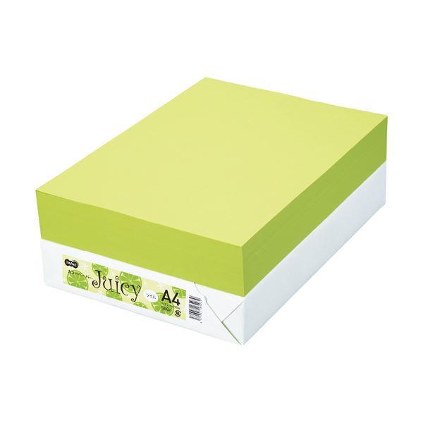 TANOSEE カラーペーパー Juicy ライム A4 500枚 【×10セット】