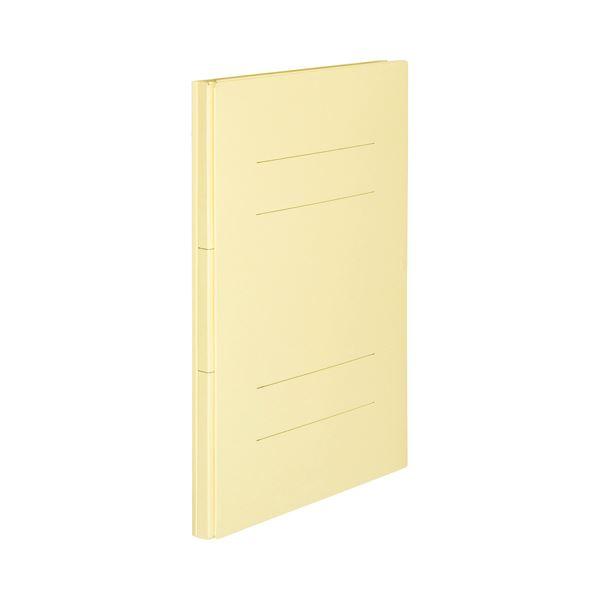 (まとめ) TANOSEE 背幅伸縮フラットファイルA4タテ 1000枚収容 背幅18~118mm ベージュ 1セット(10冊) 【×10セット】