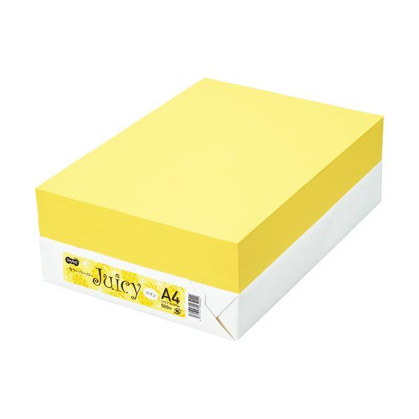 TANOSEE カラーペーパー Juicy パイン A4 500枚 【×10セット】