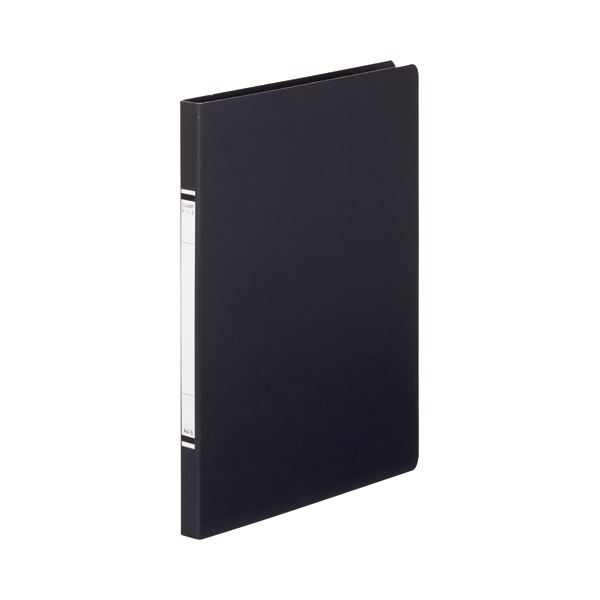 【スーパーセールでポイント最大44倍】(まとめ) TANOSEE クランプファイル(紙表紙) A4タテ 100枚収容 背幅18mm 黒 1セット(10冊) 【×10セット】
