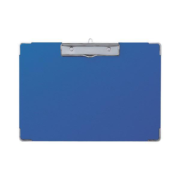 (まとめ) セキセイ カラー用箋挟 A4ヨコ Y-55C-10ブルー 1枚 【×30セット】