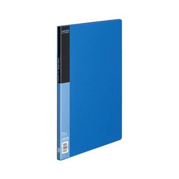 (まとめ)コクヨ クリヤーブック(ベーシック)固定式 B4タテ 20ポケット 背幅17mm 青 ラ-B24B 1セット(4冊)【×3セット】