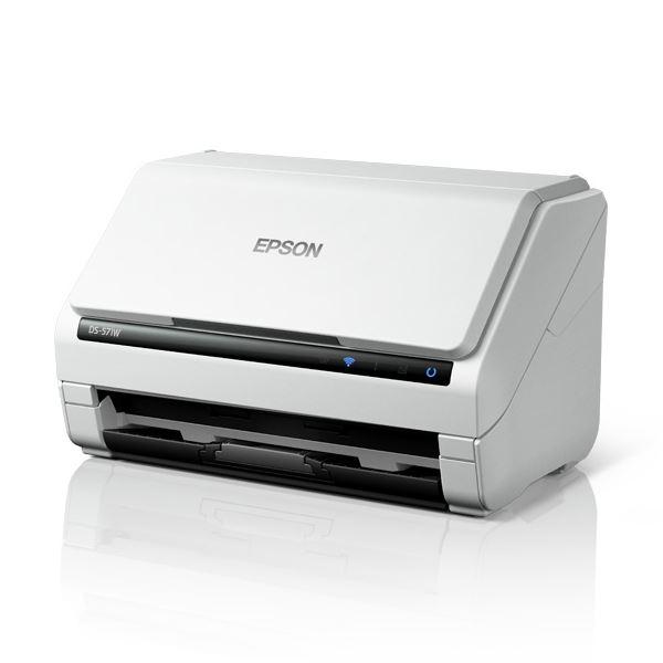 エプソン A4シートフィードスキャナー/両面同時読取/A4片面35枚/分(200/300dpi)/Wi-Fiモデル DS-571W