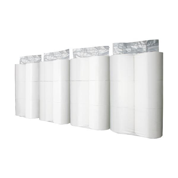 持ち運びに便利 セクションでの小分けに便利 まとめ TANOSEE トイレットペーパーパック包装 シングル ホワイト 130m 芯なし 1ケース 24ロール:6ロール×4パック ×5セット 受注生産品 高級品