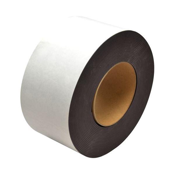 (まとめ)マグエックス マグネット粘着付原反ロール 幅100mm×長さ10m×厚さ0.8mm MSFGR-08-1 1巻【×3セット】