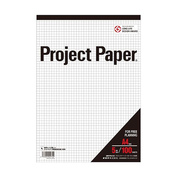 (まとめ) オキナ プロジェクトペーパー A4 5mm方眼 100枚 PPA45S 1冊 【×30セット】