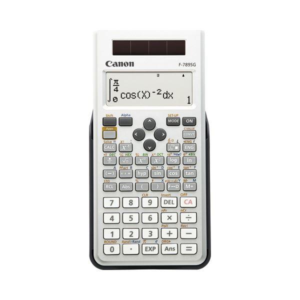 (まとめ) キヤノン Canon 関数電卓 F-789SG-SL SOB 20桁 教科書ビュー 445関数 19メモリ ホワイト 6952B001 1台  【×5セット】