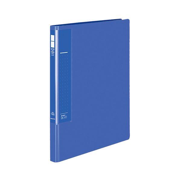 (まとめ) コクヨ レターファイル(ラクアップ) A4タテ 120~250枚収容 背幅23~36mm 青 フ-U510B 1冊 【×30セット】
