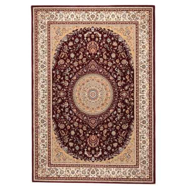 ウィルトン織 ラグマット/絨毯 【240cm×240cm レッド】 正方形 トルコ製 高耐久 『ローサマルカンド』 〔リビング〕【代引不可】