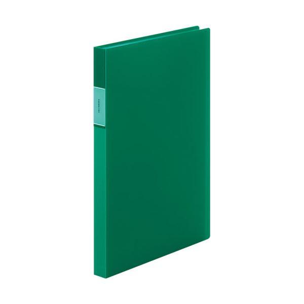 【スーパーセールでポイント最大44倍】(まとめ)キングジム FAVORITESクリアーファイル(透明) A4タテ 40ポケット 背幅24mm 緑 FV166TWミト 1冊 【×10セット】
