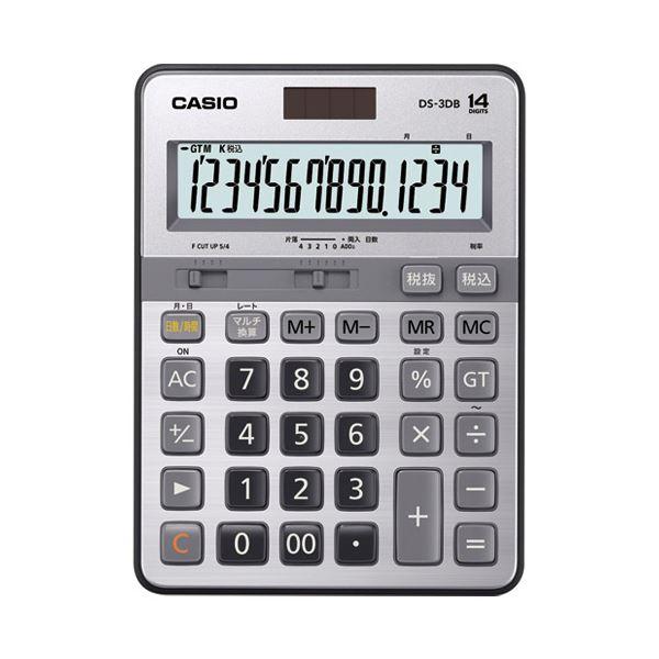 【マラソンでポイント最大43倍】(まとめ)カシオ計算機 本格実務電卓 DS-3DB 14桁【×5セット】