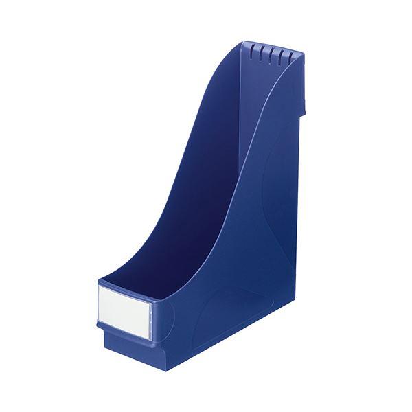 (まとめ) ライツ マガジンファイルワイドA4ワイド ブルー 2425-00-35 1個 【×5セット】