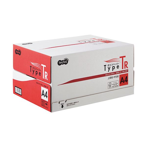 (まとめ)TANOSEE αエコペーパータイプTR A4 1箱(5000枚:500枚×10冊) 【×2セット】