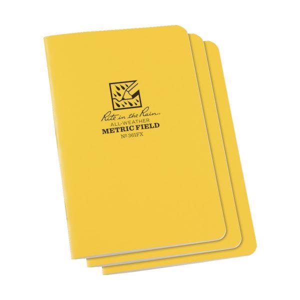 (まとめ) ライトインザレインステイプルノートブック メトリック・フィールド 361FX 1パック(3冊) 【×5セット】