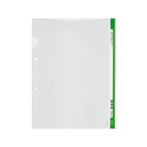 (まとめ)コクヨ ファイリングホルダー<カラーバー> 2穴あき・ロング見出しカード付き A4 ライトグリーン フ-GHL750Lg 1セット(5冊)【×20セット】
