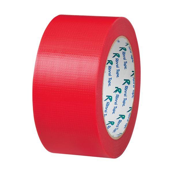 【スーパーセールでポイント最大44倍】(まとめ) リンレイ PEワリフカラーテープ 50mm×25m 赤 674アカ 1巻 【×30セット】