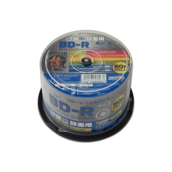 (まとめ)HIDISC BD-R 1回録画 6倍速 25GB 50枚 スピンドルケース 【×6個セット】 HDBDR130RP50X6
