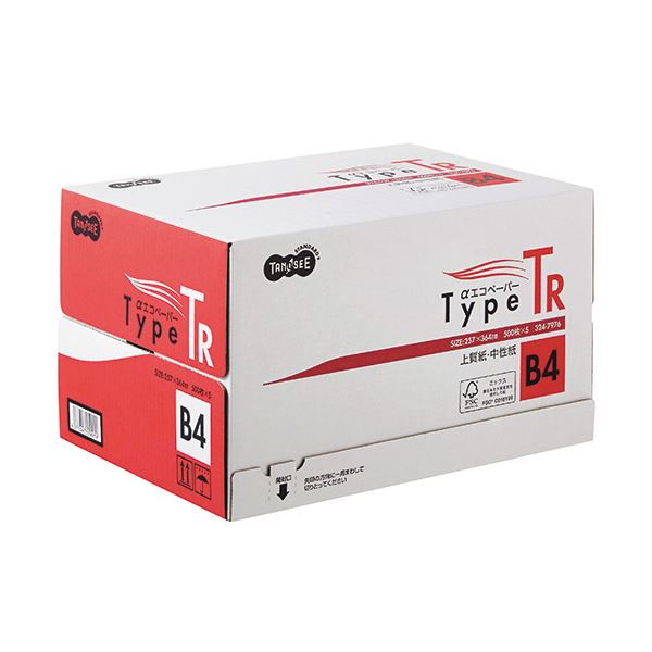 (まとめ) TANOSEE αエコペーパータイプTR B4 1箱(2500枚:500枚×5冊) 【×5セット】