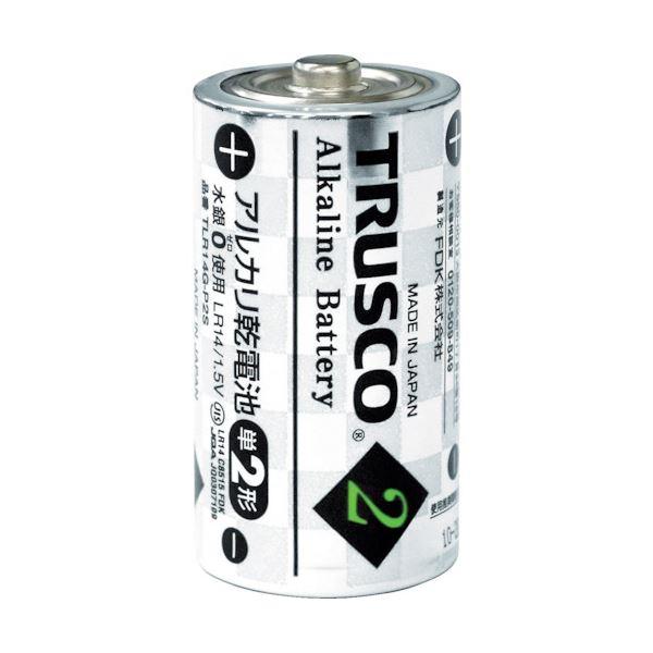 (まとめ) TRUSCO アルカリ乾電池 単2TLR14G-P2S 1パック(2個) 【×50セット】