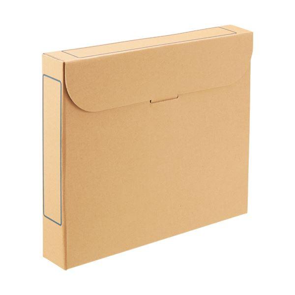 (まとめ) TANOSEE ファイルボックス A4背幅53mm ナチュラル 1パック(5冊) 【×10セット】