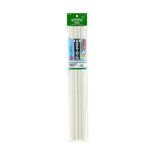 (まとめ)ELPA 足せるモール 壁用ミニ45cm テープ付 壁紙石目 PSM-K045P4(ST)1パック(4本)【×10セット】