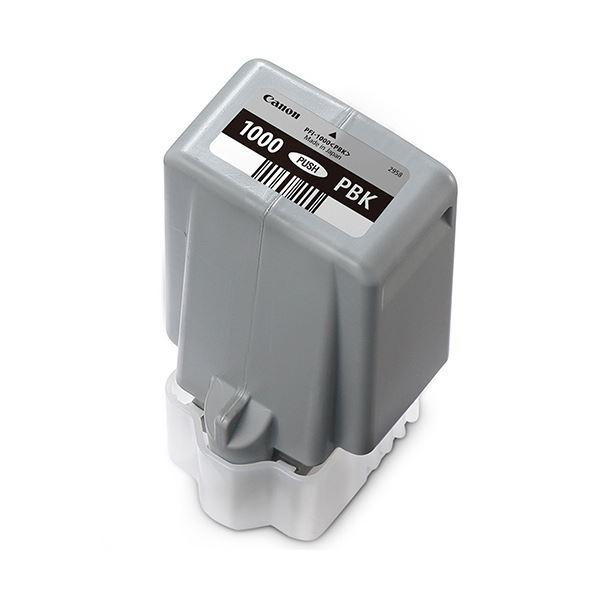 (まとめ)キヤノン インクタンクPFI-1000PBK フォトブラック 80ml 0546C004 1個【×3セット】