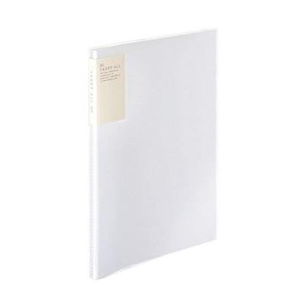 (まとめ)コクヨ クリヤーブック(キャリーオール)固定式・背ポケット A4タテ 20ポケット 背幅13mm 透明 ラ-5001T 1セット(6冊)【×5セット】