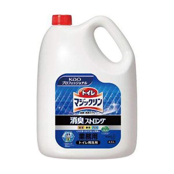 (まとめ)花王 トイレマジックリン消臭・洗浄スプレー 消臭ストロング 業務用 4.5L 1本【×3セット】