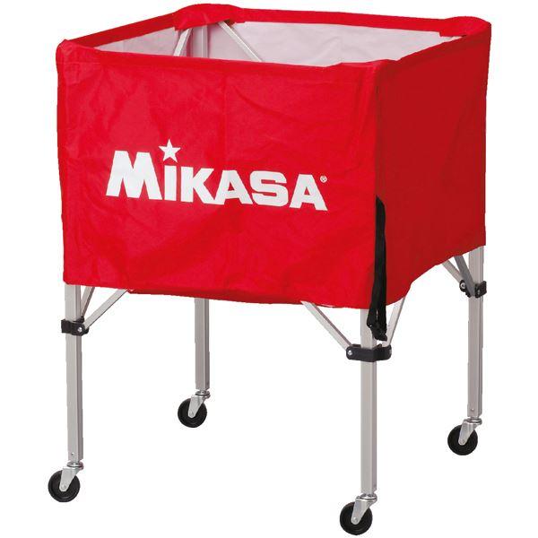 MIKASA(ミカサ)器具 ボールカゴ 箱型・中(フレーム・幕体・キャリーケース3点セット) レッド 【BCSPS】