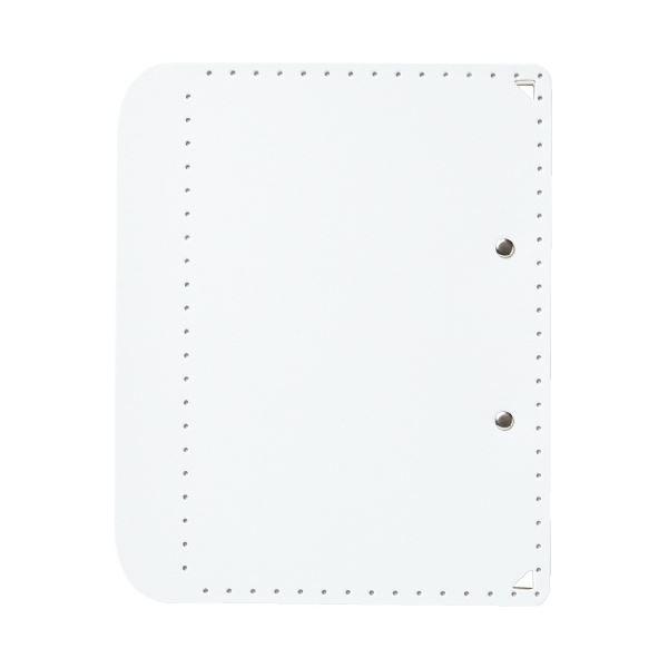 (まとめ)プラス おりたためるA4クリップボード+ ホワイト(×50セット)