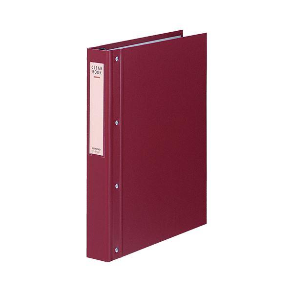 コクヨ クリヤーブック(替紙式・大量とじ)A4タテ 30穴 40ポケット付属 背幅52mm 赤 ラ-E100R 1セット(10冊)