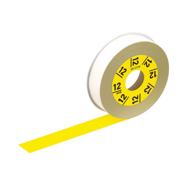 (まとめ)カシオ計算機 ラテコ専用テープXB-12YW黄に黒文字(×30セット)