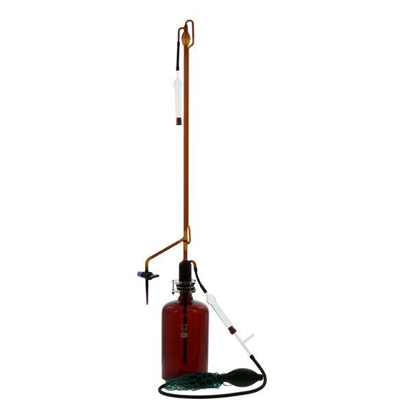 自動ビュレット 25mL ガラスコック付 【022230-25】 茶褐色 スーパーグレード