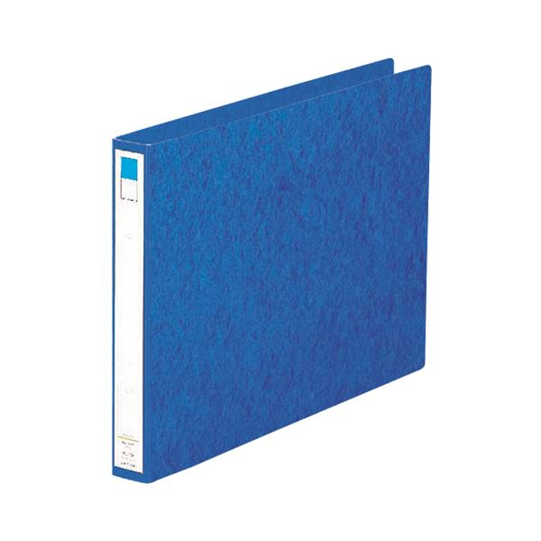 【スーパーセールでポイント最大44倍】(まとめ)リヒトラブ リングファイル B4ヨコ2穴 200枚収容 背幅35mm 藍 F-834 1冊 【×10セット】
