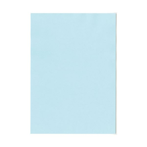 (まとめ)北越コーポレーション 紀州の色上質A4T目 薄口 水 1箱(4000枚:500枚×8冊)【×3セット】