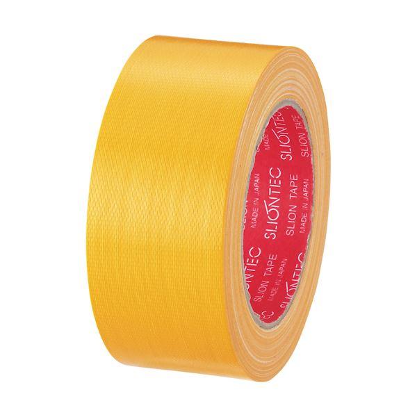 【スーパーセールでポイント最大44倍】(まとめ) スリオンテック カラー布テープ 50mm×25m 黄 343702KL 1巻 【×30セット】