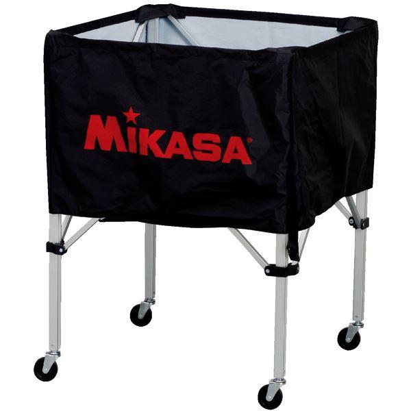 MIKASA(ミカサ)器具 ボールカゴ 箱型・中(フレーム・幕体・キャリーケース3点セット) ブラック 【BCSPS】