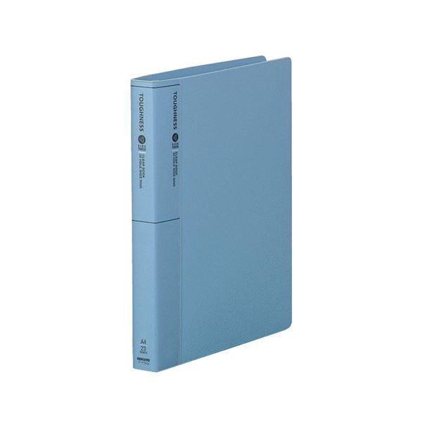 コクヨ クリヤーブック(タフネス)替紙式 サイドスロー A4タテ 30穴 23ポケット付属 背幅33mm 青 ラ-F750NB 1セット(10冊)