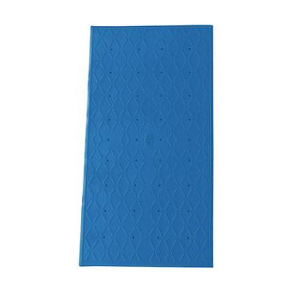 (まとめ)アロン化成 吸着すべり止めマット浴槽内用 M 36×70cm ブルー 535-457 1枚【×3セット】