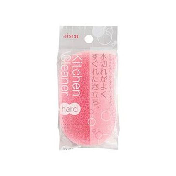 (まとめ)アイセン キッチンクリーナーハード ピンク KF101-P 1個【×50セット】
