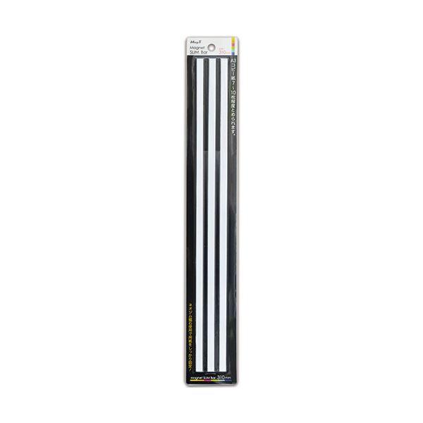 (まとめ) マグエックス マグネットスリムバー310白 MSLB-310-3P-W 1パック(3本) 【×30セット】