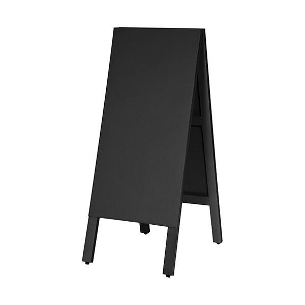 卓抜 低廉 マグネットも使えるA型案内板 馬印 多目的A型案内板 黒いこくばんWA450VK 1枚